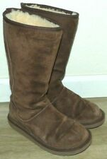 Nice Women's Size 5 UGG Knightsbridge Dark Brown Suede Tall Sheepskin Boots