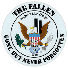 Round Magnet - Honor The Fallen, Live Free or Die - Support Our Military Troops