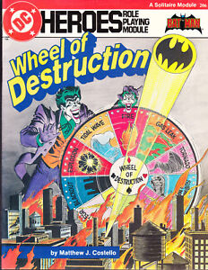 DC HEROES WHEELS OF DESTRUCTION ROLE PLAYING MODULE GUIDE 206 BATMAN JOKER