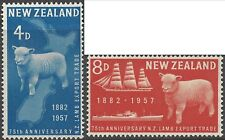 New Zealand 1957 LAMB EXPORT TRADE (2) Unhinged Mint SG758-9