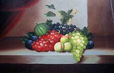 "24x36""100% hand painted oil flat,Fruit,Bottle Wine,Bread, Red Wine, Still Life"
