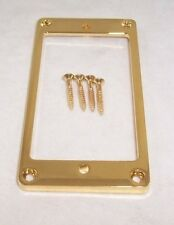 1 X  GOLD THIN FLAT BASE METAL HUMBUCKER PICKUP SURROUND/ GIBSON SG ETC