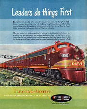 "General Motors Locomotives ""Leaders do things First"" Railroad Metal Sign"