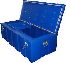 260lt B'ute Box - Tough Poly Toolbox 570mmW x 1170mmL x 400mmH - Blue - NEW