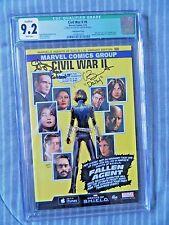 Civil War II #0 Agents of Shield Variant Cover Signed Clark Gregg & Chloe Bennet
