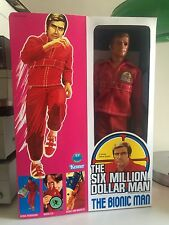 "The Six Million Dollar Man 13"" Figure 100% complet neuf box 1975 Bionic Kenner"