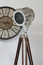 TALL! Chrome Nautical Search Spot Light Tripod Floor Lamp CHRISTMAS GIFT PRESENT