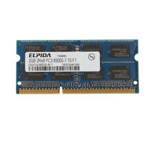 Elpida 2 GB DDR3 2RX8 PC3-8500S 1066MHz 204PIN CL7 SO-DIMM RAM Laptop Memory #5