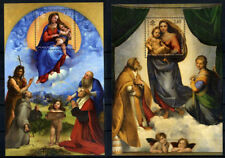 """2012 Vaticano foglietto """" raffaello madonna sistina e di foligno """" MNH**"""
