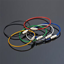 Lot 50PCS Stainless Steel Wire Keychain Cable Key Ring Chains for Outdoor Hiking