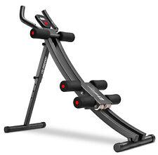 Hop-Sport Rückentrainer & Bauchtrainer mit Knieauflage - klappbares Fitnessgerät