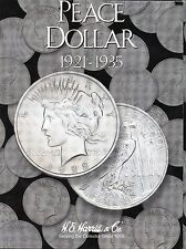 Coin Folder - Peace Dollars 1921 - 1935 Set - Harris Album 2709