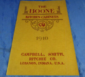 Katalog/Catalog The Boone Kitchen Cabinets 1910 Campbell,Smith, Ritchie USA