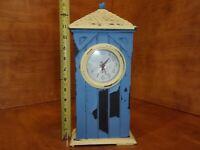 "14"" x 6"" x 3"" Vintage Wood Clock"