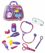PEPPA PIG'S MEDICAL CASE DOCTOR'S SET 10 PIECES BRAND NEW AGE 3+ CHARACTER