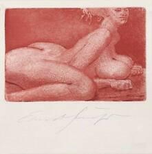Ernst Fuchs, Kleine Sphinx, colour etching, handsigned