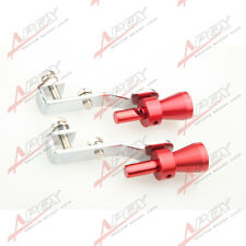 2PCS Universal Turbo Sound Exhaust Whistle/Fake Blow off BOV Simulator Red s E