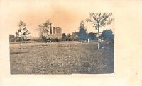 VINTAGE POSTCARD REAL PHOTO SEGREGATED LAWNS GROUPS BUILDINGS REAR 1907 - 1914