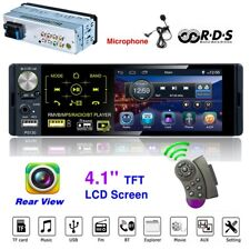 1 Din 4.1 Car Radio MP5 Player Touch HD Capacitive Screen Bluetooth FM RDS USB