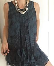 NF BY NICOLA FINETTI WOMENS DRESS LINED PRINTED WORK PARTY SZ 12