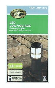 Hampton Bay Path Bollard Light Landscape Low-Voltage Integrated LED Black