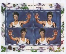 BRUCE LEE MARTIAL ARTS KUNG FU KARATE 1996 MNH STAMP SHEETLET