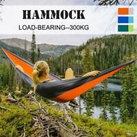 Hamaca Doble Colgante Tumbona Hammock Jardin Camping 260 x 140cm 300kg Viaje *
