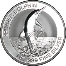 """2020 Australia 1 oz Silver $1 """"Spinner"""" Dolphin Bu in Mint Capsule In Stock Live"""