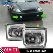 For Honda Civic 96-98 Factory Replacement Fit Fog Lights Wiring Kit Clear Lens