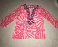 Lilly Pultzer Womens Silk Tunic Top / Blouse - Size Med