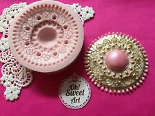 Meltem's Brooch silicone mold cupcake toppers food decorating APPROVED FOR FOOD
