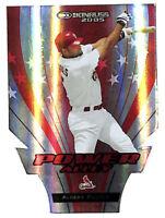 2005 Donruss Albert Pujols Power Alley 88/250 red die cut insert card Cardinals