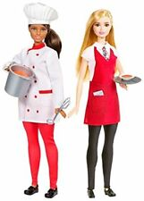 Barbie Friend Careers Chef & Waiter Doll Set Imperfect Box