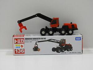 1:96 Komatsu Harvester 931XC with Decal Sheet - Made in Vietnam Tomica 136