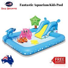 Fantastic Aquarium Kids Pool Inflatable Swimming Pool Swim Water Slide Sprayer