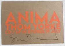 More details for thom yorke anima  promo postcard stanley donwood signed autographed