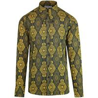 NEW MADCAP RETRO MOD MENS 60s 70s SPEAR COLLAR Gangster SHIRT Baroque MC474
