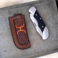 Hooey Brown with Orange Knife Sheath