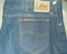 "LEE INDIGO DENIM MEN'S STRAIGHT LEG JEANS NEW WITHOUT TAGS 48"" WAIST 34"" LENGTH"