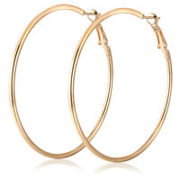 Big Round Women Hoop Earrings Pendant Charm Silver Gold Jewelry Gift Bohemia