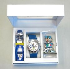 TechnoMarine 2014 World Cup Italy Britto Soccer Watch Chronograph Set NEW! 32104