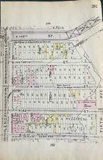 ORIG 1912 GW BROMLEY, LINDEMAN PIANO FACTORY , HARLEM, MANHATTAN, NY ATLAS MAP