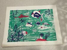 """1990s Edward Arden Under the Sea Lithograph 26"""" by 20"""" 113/180"""