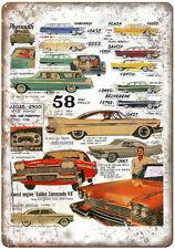 """1958 Plymouth, Suburban, Belvedere, Golden Commando 10"""" x 7"""" Retro Metal Sign"""