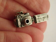 STERLING SILVER CAMERA CHARM BUMBLE BEE PENDANT FILM CAMERA OPENS