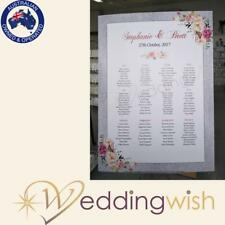 Wedding Seating Chart, Printed A1 Table Seating Board - Silver Glitter
