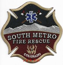 "South Metro  Fire - Rescue, Colorado (4"" x 4"" size) fire patch"