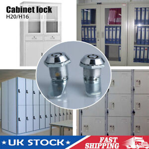 2 Locks Key-16/20mm Cam Lock Door Barrel Drawer Cabinet Mail Box Locker Cupboard