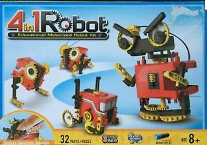 4 in 1 Educational Motorized Robot Kit (cricket, trailer, beast and robot) BNIB
