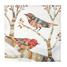 Shabby Chic Vintage Style - Colourful Birds Canvas Picture - NEW